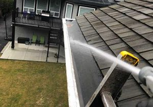 exterior gutter washing