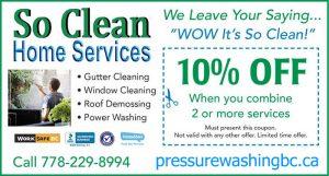 pressure washing bc