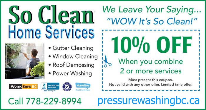 Contact Pressure Washing Vancouver Today 778 229 8994